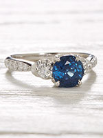 Vintage Style Engagement Ring with Sapphire