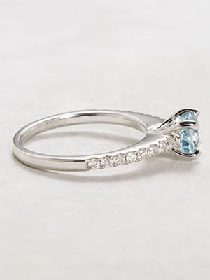 Aquamarine Bridal Rings Set