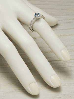 ... Aquamarine Bridal Rings Set