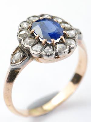 Victorian Antique Sapphire Engagement Ring