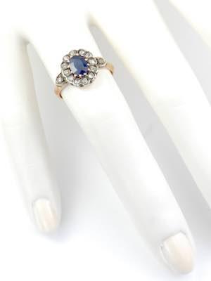 Victorian Antique Sapphire Engagement Ring