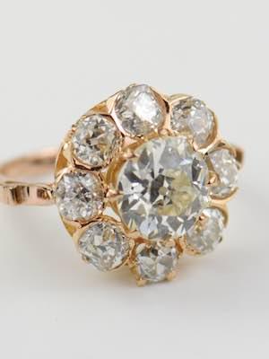 Vintage Engagement Ring in Rose Gold