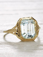 Art Deco Antique Ring with Pierced Design