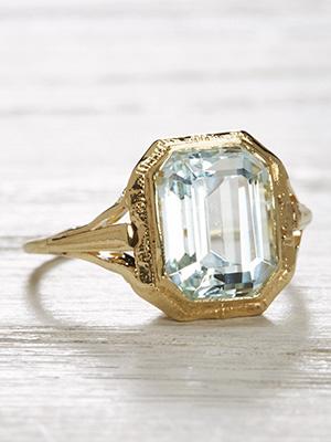 Art Deco Antique Ring with Pierced Design