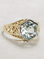 Edwardian Aquamarine Antique Ring