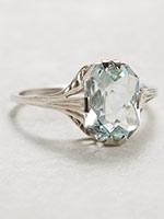 Late Edwardian Aquamarine Antique Ring