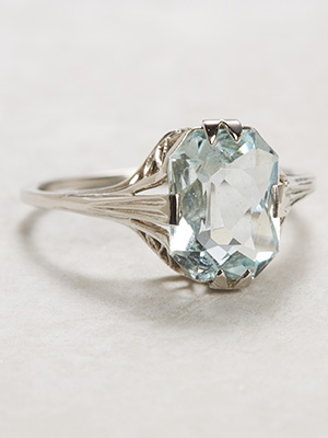 Late Edwardian Aquamarine Antique Ring