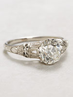 Orange Blossom Antique Engagement Ring