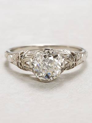 Orange Blossom Antique Engagement Ring