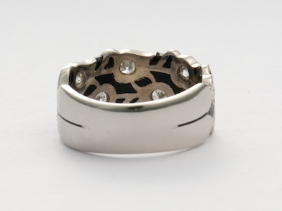 Vintage Wedding Ring with Tulip Motif
