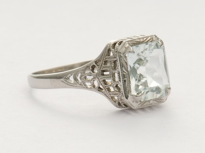 Art Deco Filigree Antique Engagement Ring