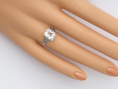 Art Deco Filigree Antique Engagement Ring