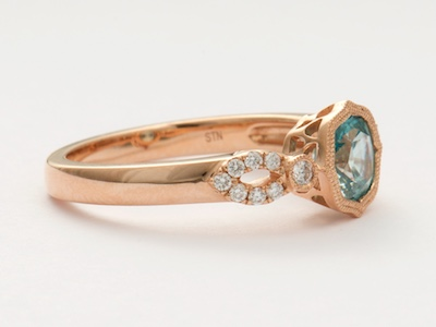 By the Sea Vintage Style Engagement Ring