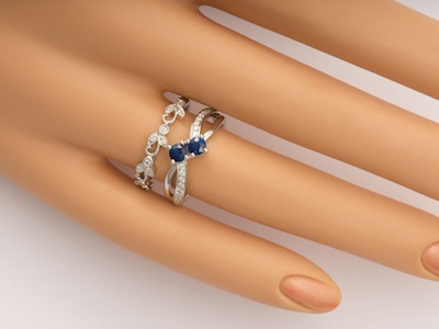 Ocean Waves Vintage Style Engagement Ring