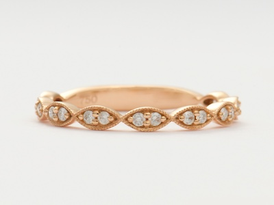 Rose Gold Vintage Style Wedding Ring