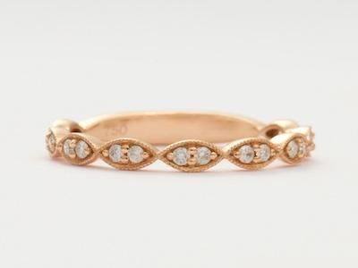 Rose Gold Vintage Style Wedding Ring