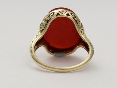 Carnelian Scarab Antique Ring