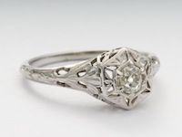 Antique Engagement Ring by Traub