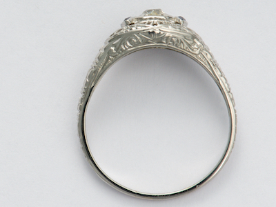Antique Engagement Ring with Old Mine Cut Diamond