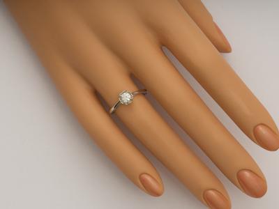 Charming Rose Petal Vintage Style Engagement Ring