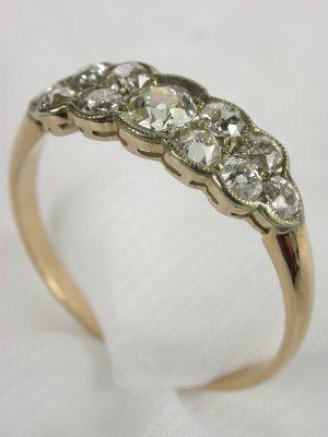 Edwardian Diamond Antique Wedding Ring