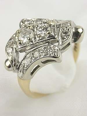 Antique Diamond Right Hand Ring
