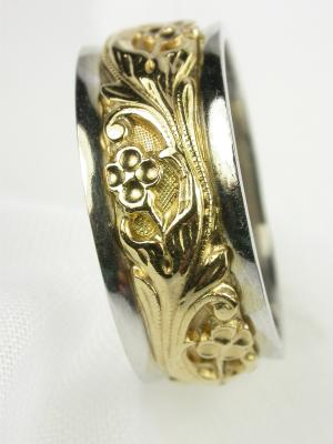 Art Carved  Vintage Wedding Ring
