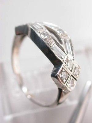Art Deco Antique Diamond Wedding Ring